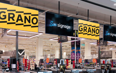 The partnership between Grano and SeeSignage strengthens the customer experience in the store
